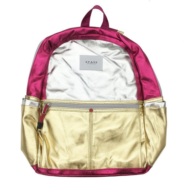 State Pink Metallic Backpack