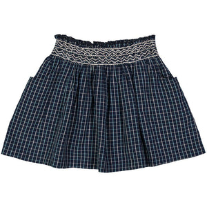Pink Chicken Skye Skirt 2y blue/white plaid - 18fpc200a