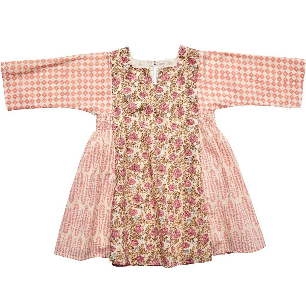 Pink Chicken Sobi Dress 2y mauveglow roses - 18sspc212a