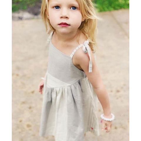 Pink Chicken Monroe Dress 2y gray stripe - 18rpc322a
