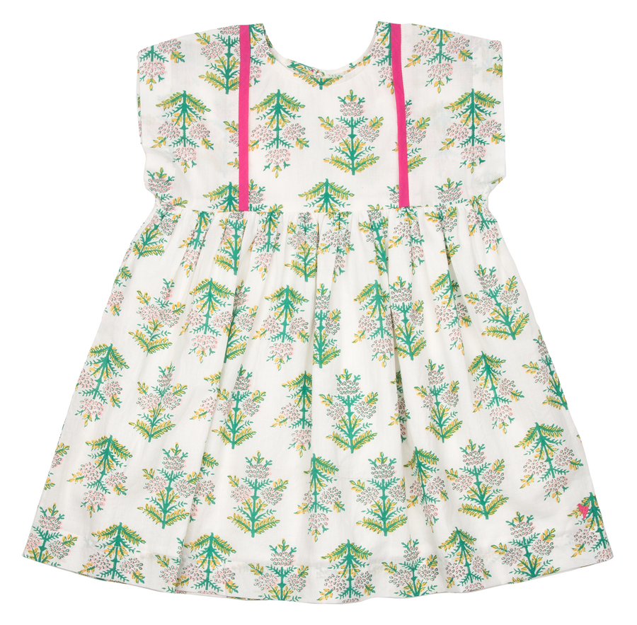 Pink Chicken Stacey Dress 2y gardenia jasmine tree