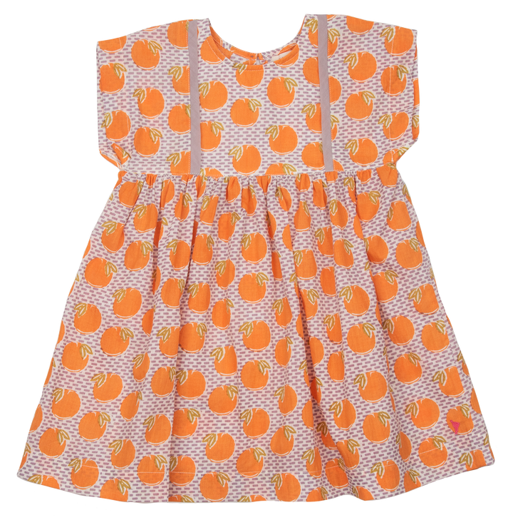 Pink Chicken Stacey Dress 2y nirvana oranges