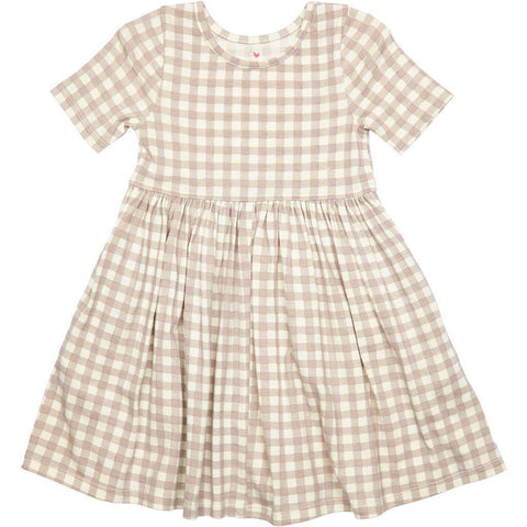 Pink Chicken Steph Dress 2y atmosphere gingham - 19spc220b