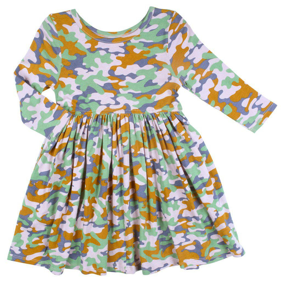 Pink Chicken Steph Dress 2y lavender multi camo - 19ffpc220d