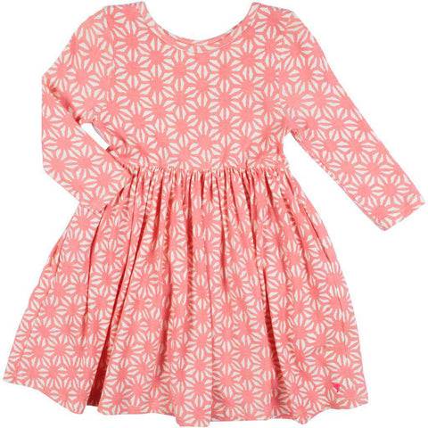 Pink Chicken Steph Dress 2y mauveglow tile mosaic - 19fpc220a