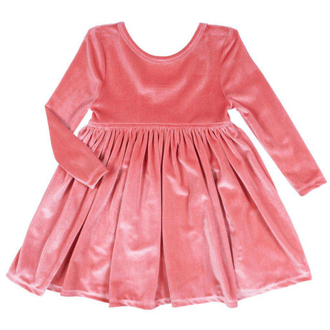Pink Chicken Steph Dress 2y rapture rose velour - 19ffpc220f