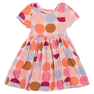 Pink Chicken Steph Dress 2y cloud pink multi dot