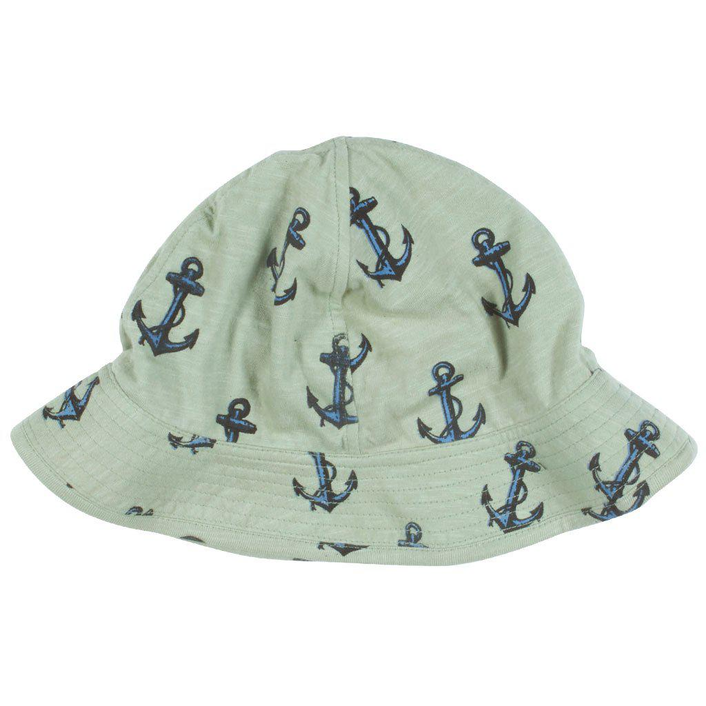 Pink Chicken Sun Hat 6/12m green tea anchor - 19sbrb200b