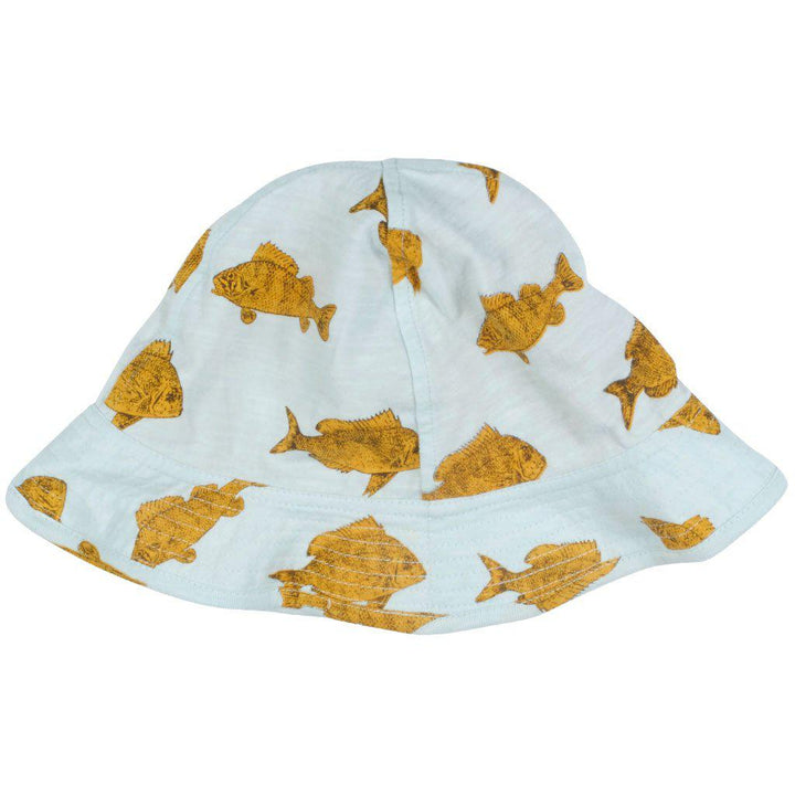 Pink Chicken Sun Hat 6/12m wan blue fish - 19sbrb200c