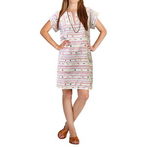 Pink Chicken Suri Dress xs wan blue serape embroidery - 19sspcw188a