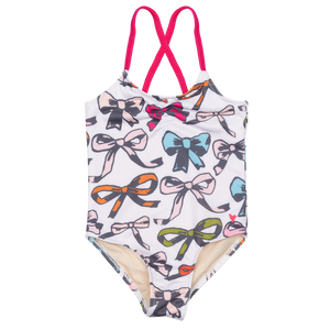 Pink Chicken Belle Suit 2y multi bows