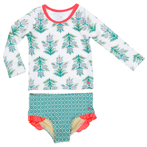 Pink Chicken Baby Rash Guard Set 3/6m gardenia jasmine tree