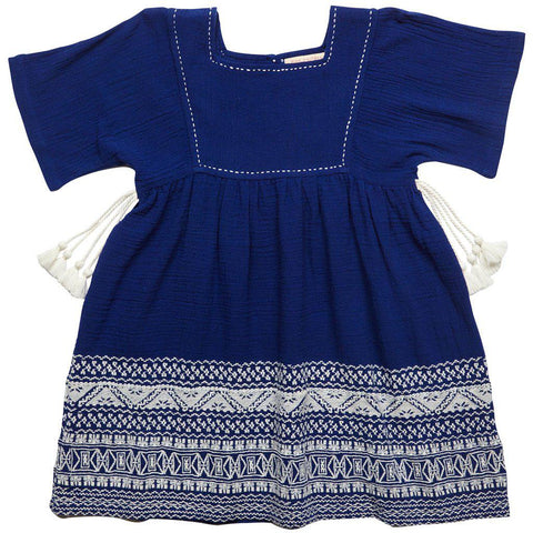 Pink Chicken Tanisa Dress 2y indigo - 18spc246b