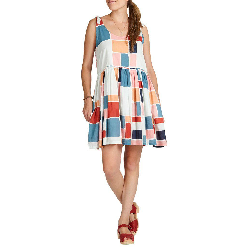 Multi paint square womens dress.
