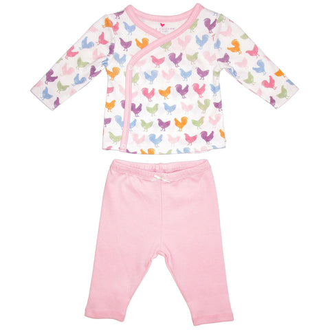 Pink Chicken Tessa 2-Piece Set 0/3m multi chicken & rooster - 19spcl2a