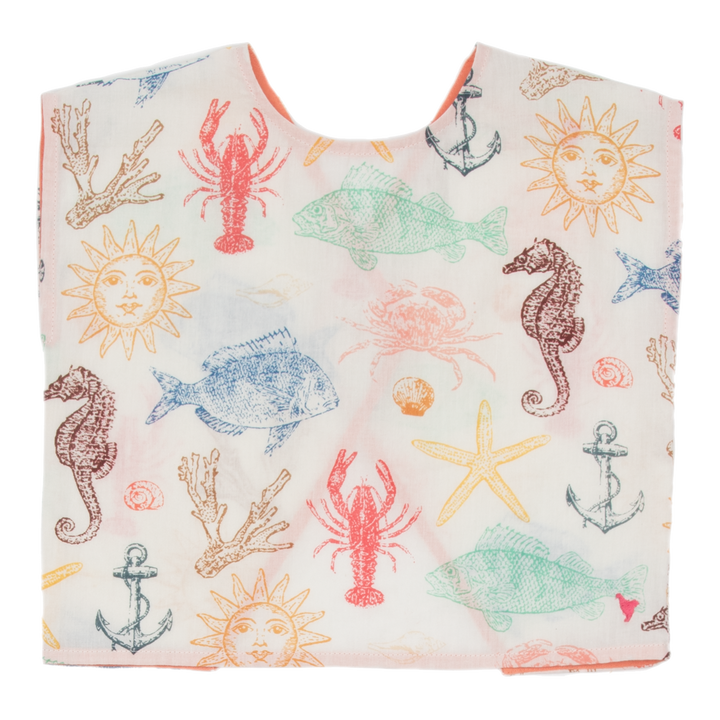 Pink Chicken Tibby Top 2y multi sea creatures