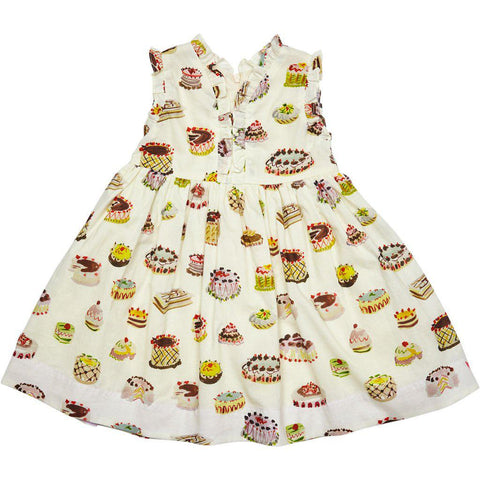 Pink Chicken Vera Dress 2y antique white multi desserts - 19sspc311b