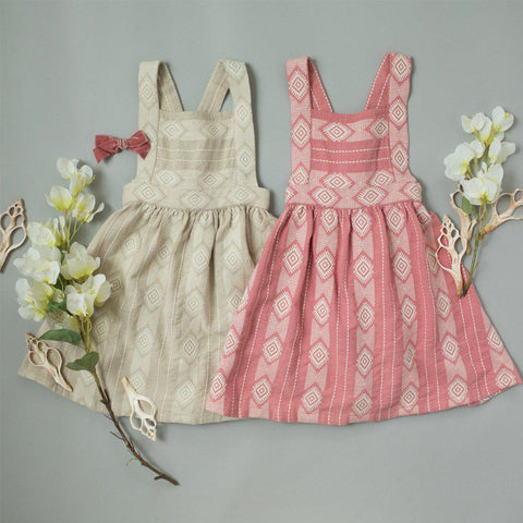Pink Chicken Willa Dress 2y dusty rose jacquard - 19spc293a