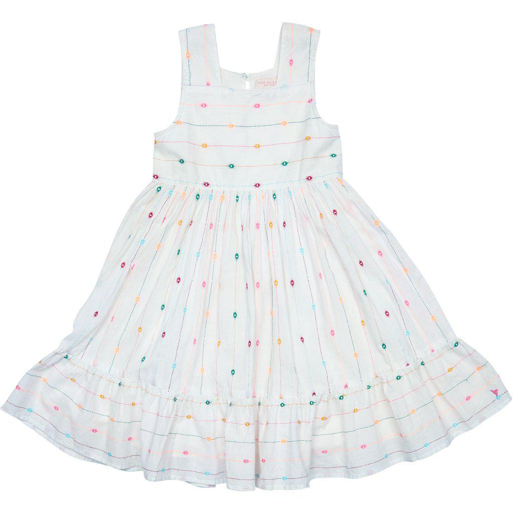View larger version of Pink Chicken Wren Dress 2y multi stripe - 19sspc296a