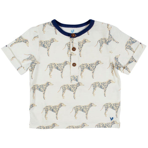 Pink Chicken Wylie Shirt 2y antique white dalmatian - 19sbr102b