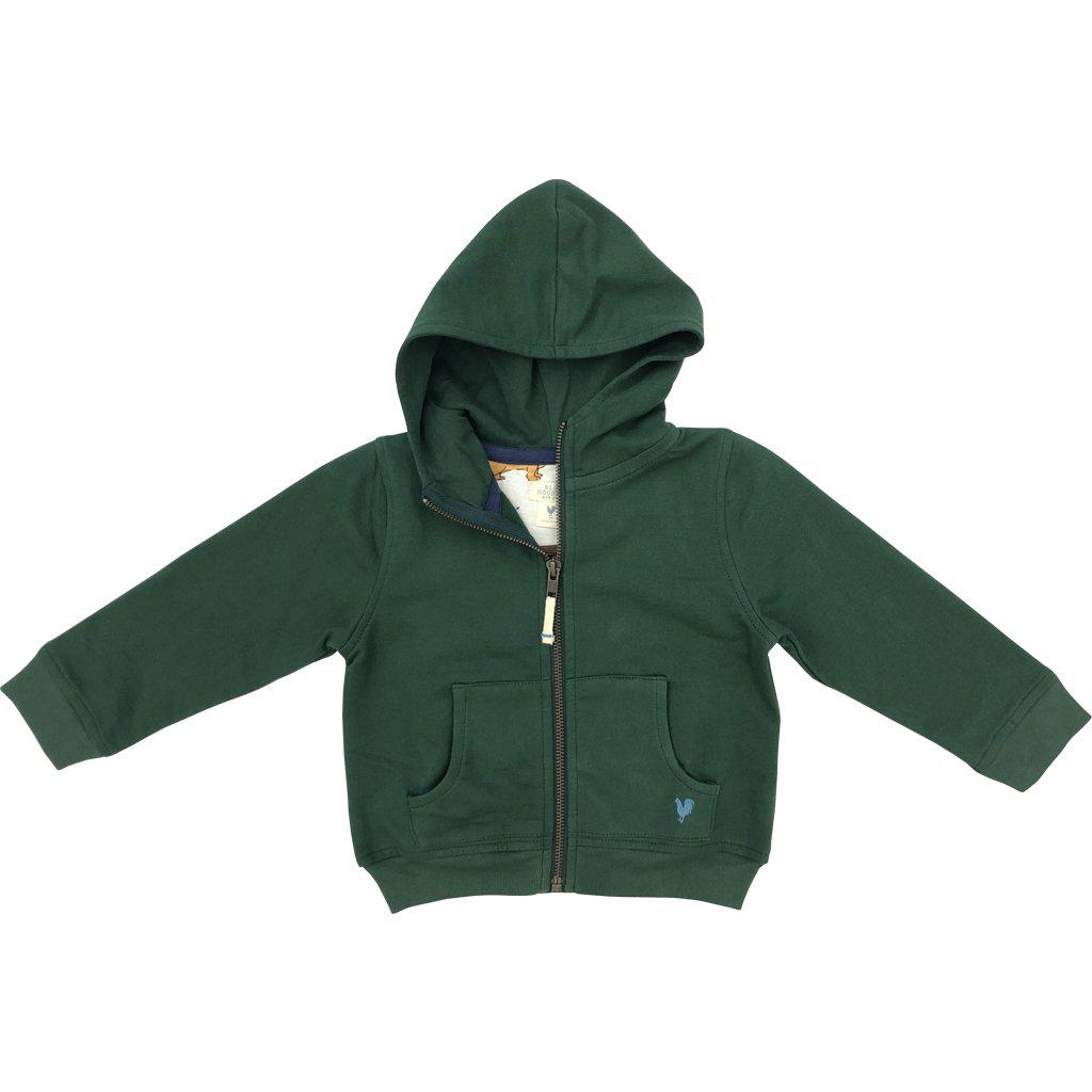 Pink Chicken Zip Hoodie 2y 19fbr117b - hunter green