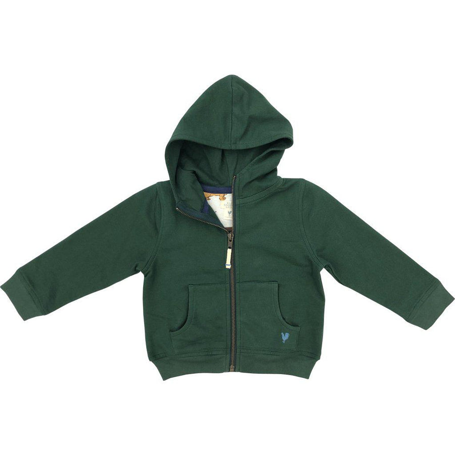 Pink Chicken Zip Hoodie 2y hunter green