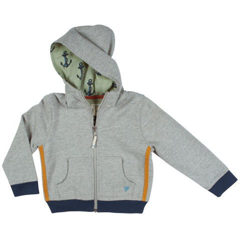 Pink Chicken Zip Hoody 2y gray heather - 19sbr117a
