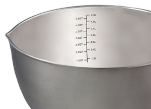 Stainless Steel Mixing Bowls with Handle and Spout, Set of 3