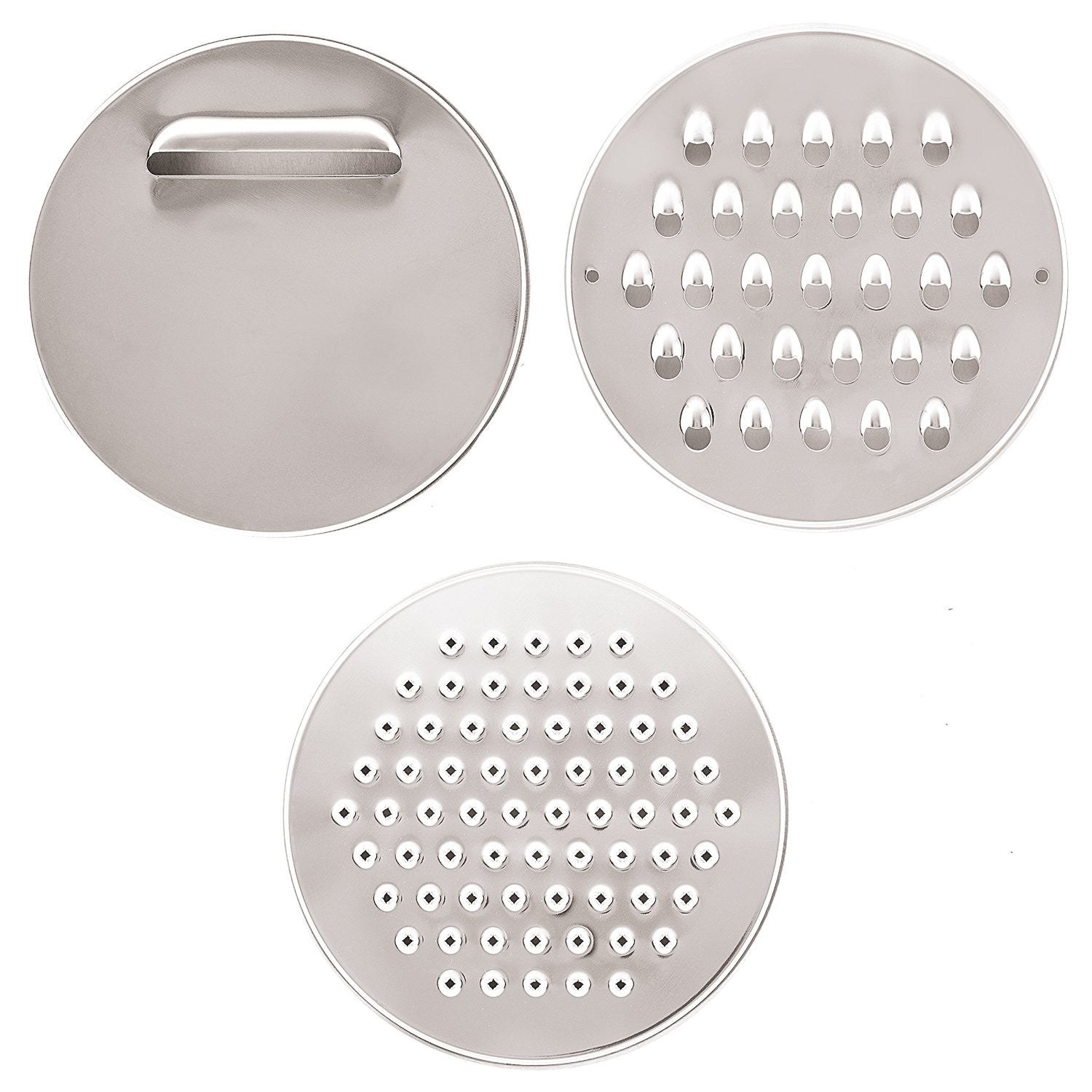 Stainless Steel Non-Slip Mixing Bowls Set with Lids and Graters, Set of 5, Blue
