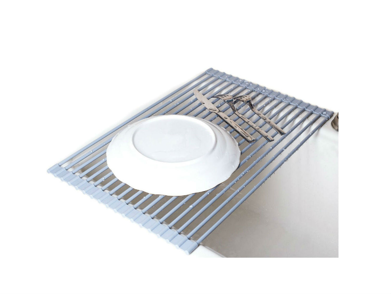 Over The Sink Roll Up Dish Drying Rack