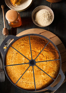 Cast Iron Pre-Seasoned Cornbread and Scottish Scone Wedge Pan