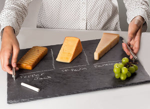 Slate Cheese Board Set with Handles,17.7'' x 13.7""