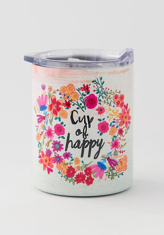 Natural Life Lowball Tumbler Cup of Happy