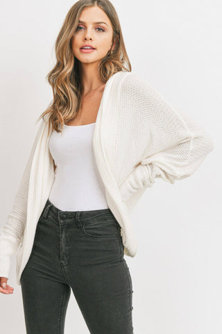 Camillions Cocoon Hooded Cardigan in Oatmeal