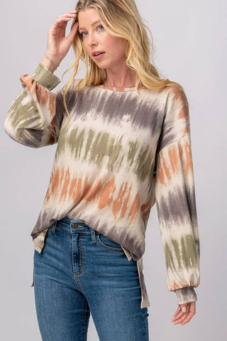 Camillions Earthy Tie-Dye Cross Back Shirt