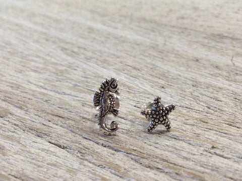 Tomas Starfish/Seahorse Sterling Silver Stud Earrings