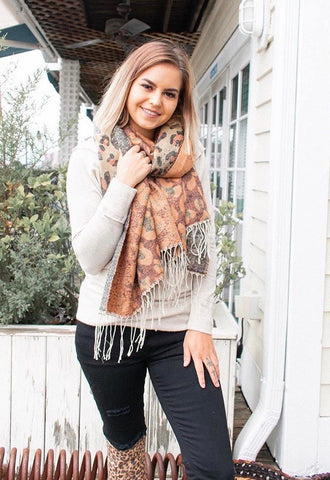 Camillions Ombre Leopard Scarf