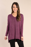 Simply Noelle Heathered Striped Top