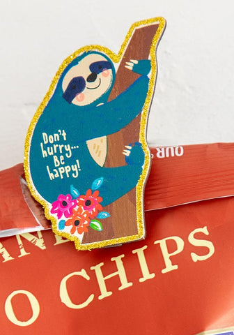 Natural Life Sloth Don't Hurry Happy Clips Set of 3