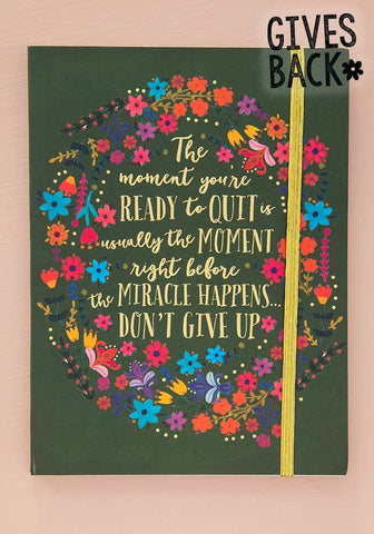 Natural Life Don't Give Up Journal