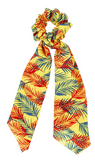 Camillions Scrunchie Long Scarf Hair Tie - Bahamas Palms