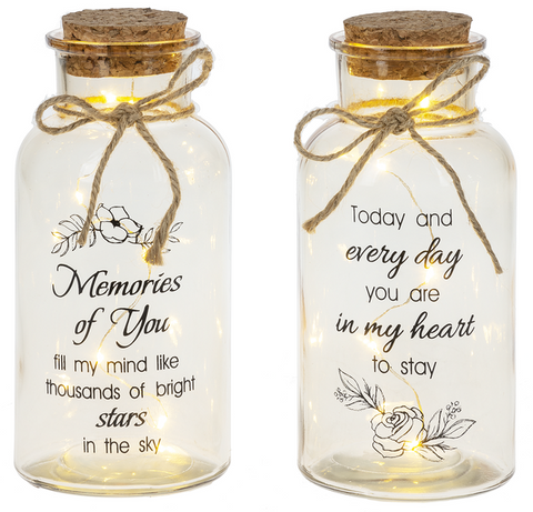 Camillions Light Up Twinkle Jars with Cork Top