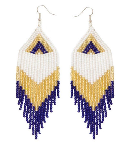 Camillions Embera Beaded Earrings - Marino