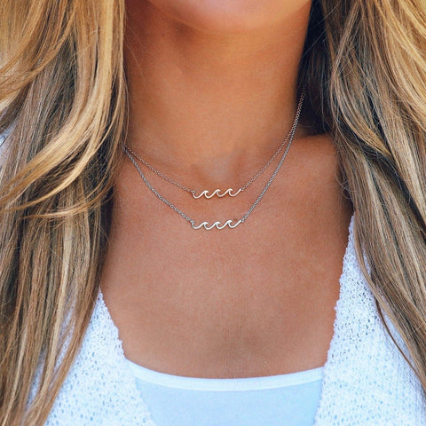 Pura Vida Delicate Wave Necklace - Silver