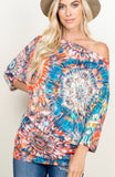Camillions Starburst Dreams Off the Shoulder Top