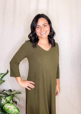Simply Noelle Classic Olive Dress