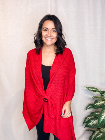 Simply Noelle Holiday Red Button Wrap