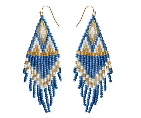 Camillions Embera Beaded Earrings - Azul