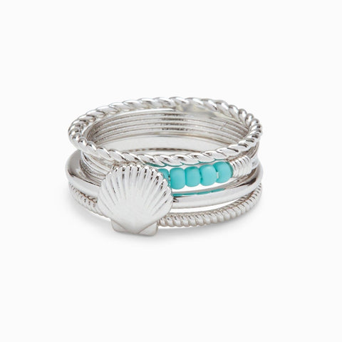Pura Vida Shell Ring Stack