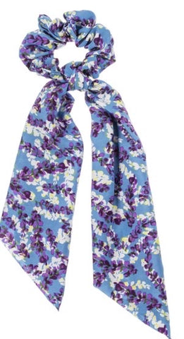 Camillions Scrunchie Long Scarf Hair Tie - Flowers Assorted